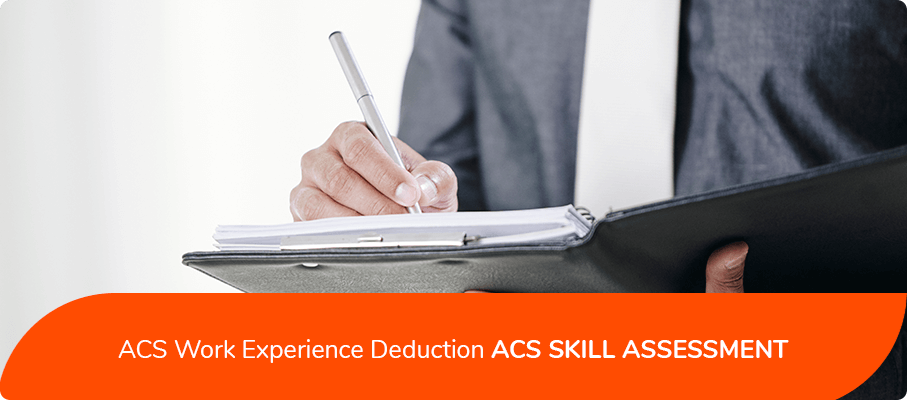 ACS Work Experience Deduction