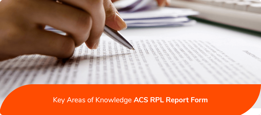 acs key areas of knowledge