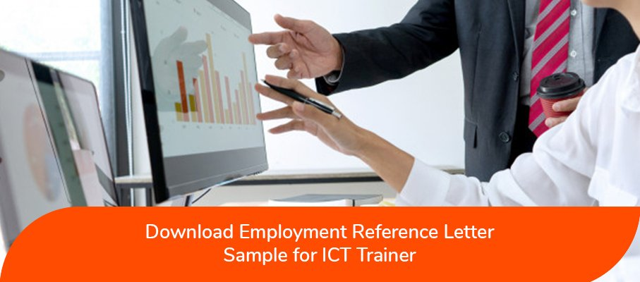 ACS Reference Letter Sample for ICT Trainer