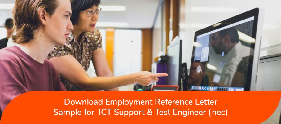 ACS reference letter sample for ICT Support And Test Engineer