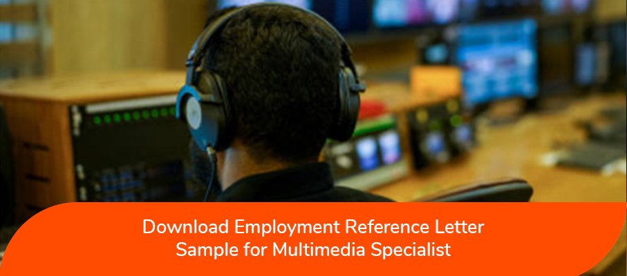 acs reference letter sample for Multimedia Specialist