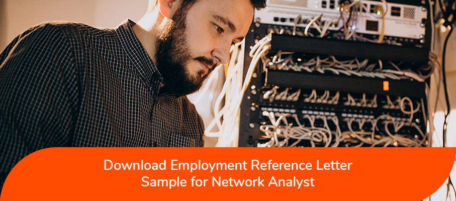 ACS reference letter sample for Network Analyst