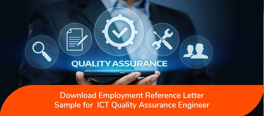 ACS Reference Letter Sample for ICT Quality Assurance Engineer