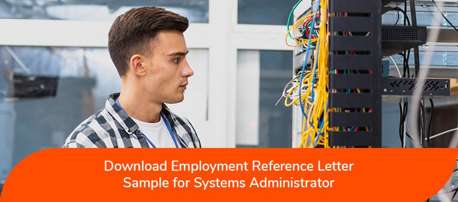 ACS reference letter sample for Systems Administrator