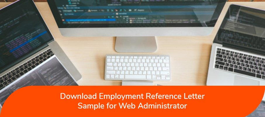 ACS Reference Letter Sample for Web Administrator