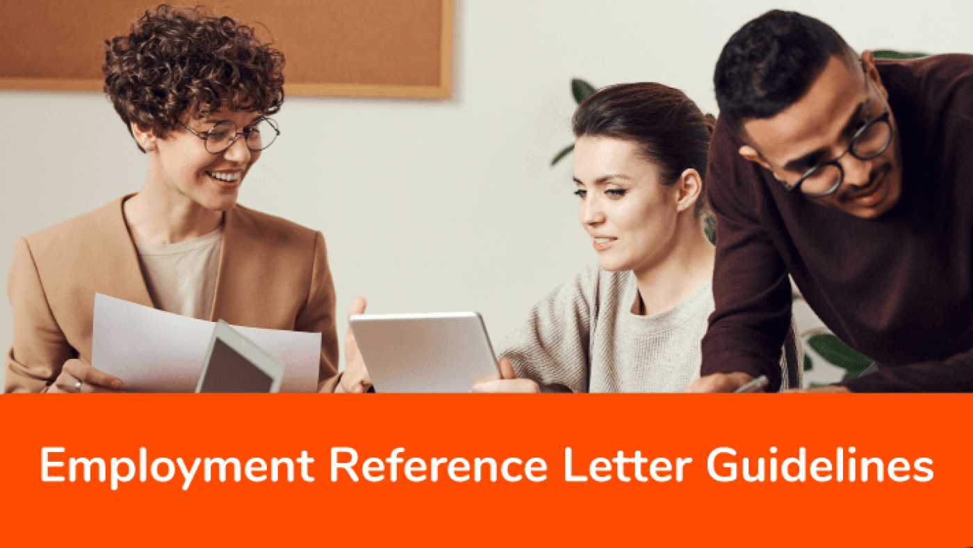 Employment reference letter guidlines