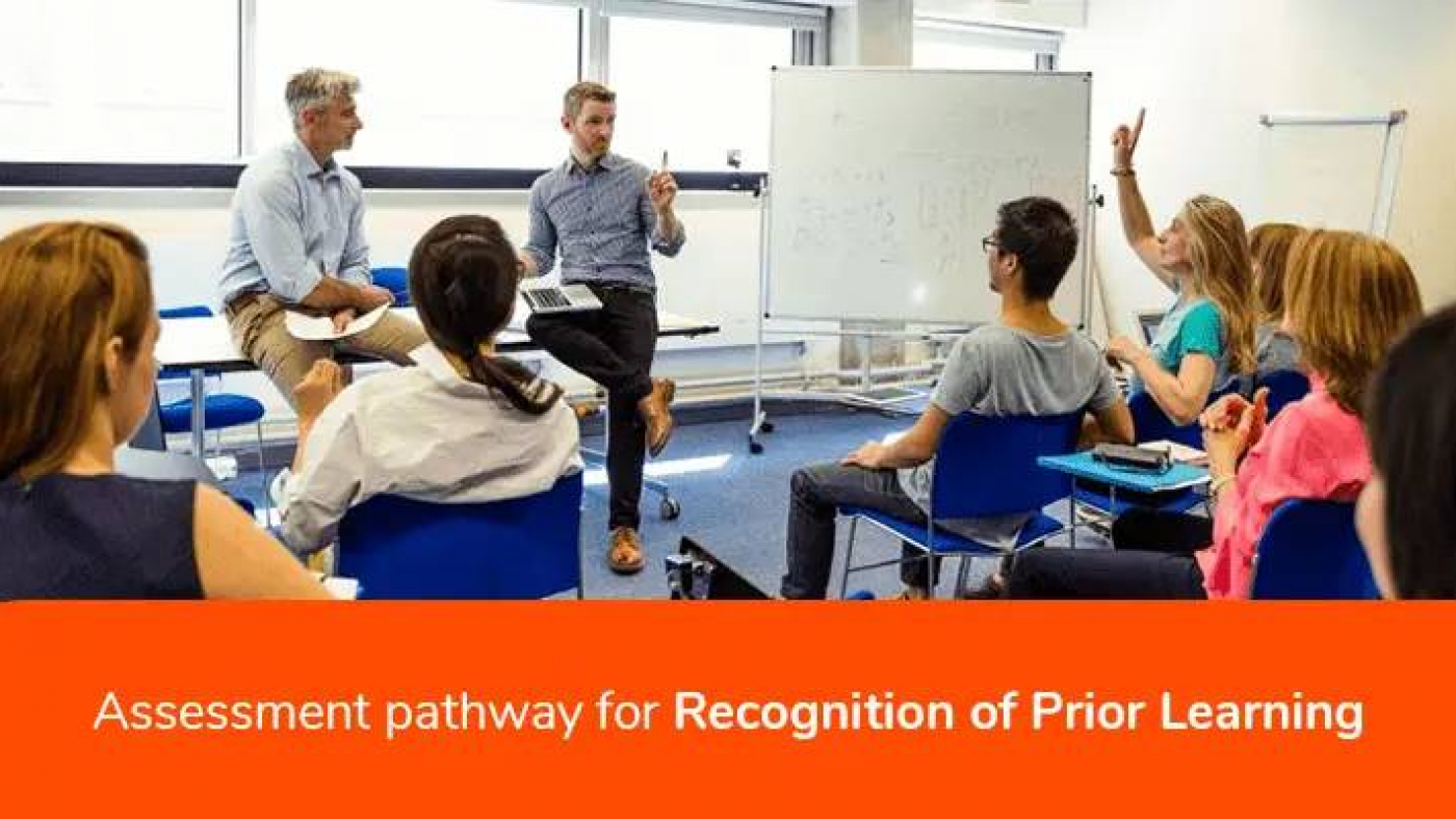 Assessment pathway for Recognition of Prior Learning