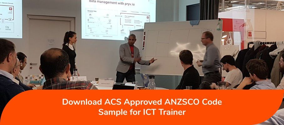ICT Trainer ANZSCO 223211 analyses and evaluates information-based system training needs and objectives, and develops, and conducts ICT-based system training programs.